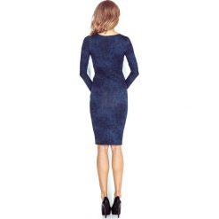 Sara Sukienka z dekoltem w SEREK - JEANS CIEMNY GRANAT. Niebieskie sukienki marki morimia, s, z jeansu, z dekoltem w serek. Za 119,99 zł.