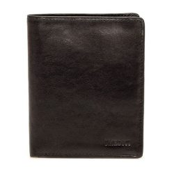 Portfele damskie: Skórzany portfel w kolorze czarnym – 11 x 13 x 2,5 cm