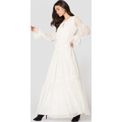 Długie sukienki: MANGO Długa sukienka Plumeti - White
