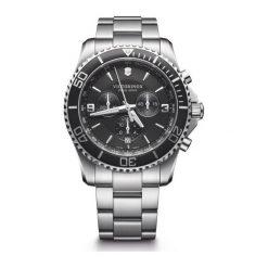 ZEGAREK VICTORINOX SWISS ARMY Maverick Chronograph 241695. Czarne zegarki męskie Victorinox, szklane. Za 2790,00 zł.