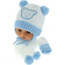 Czapka niemowlęca z szalikiem i rękawiczkami CZ+S+R 124A. Szare czapeczki niemowlęce Proman. Za 47,14 zł.