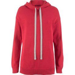 Sweter dzianinowy z kapturem bonprix czerwony. Szare swetry klasyczne damskie marki Reserved, m, z kapturem. Za 74,99 zł.