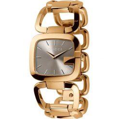 ZEGAREK GUCCI G-GUCCI YA125408. Brązowe zegarki damskie GUCCI, ze stali. Za 4100,00 zł.