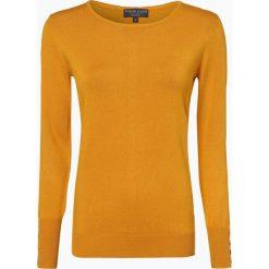 Marie Lund - Sweter damski, żółty. Żółte swetry klasyczne damskie Marie Lund, xxl, z dzianiny, z klasycznym kołnierzykiem. Za 99,95 zł.