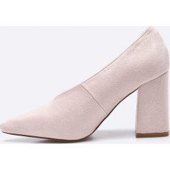Public Desire - Czółenka. Szare buty ślubne damskie marki Public Desire, z materiału, na obcasie. W wyprzedaży za 89,90 zł.