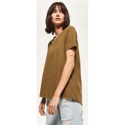 T-shirty damskie: Koszulka z bawełny organicznej – Zielony