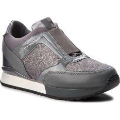 Sneakersy TOMMY HILFIGER - Elastic Wedge Sneaker FW0FW03553 Steel Grey 039. Czarne sneakersy damskie marki TOMMY HILFIGER, z materiału, z okrągłym noskiem, na obcasie. W wyprzedaży za 439,00 zł.