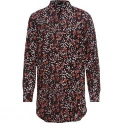 Długa bluzka bonprix czarny w kwiaty. Czarne bluzki asymetryczne bonprix, w kwiaty, z długim rękawem. Za 89,99 zł.
