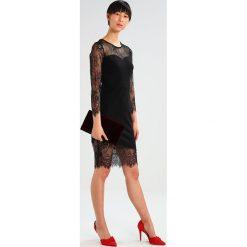 Sukienki hiszpanki: Dorothy Perkins ASYMMETRIC LACE HERM BODYCON Sukienka koktajlowa black