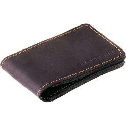 Portfele męskie: Cienki portfel ze skóry naturalnej BRODRENE czarny