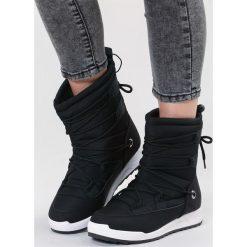 Czarne Śniegowce Cozy Harbour. Czarne buty zimowe damskie other, z materiału, z okrągłym noskiem, na płaskiej podeszwie. Za 99,99 zł.