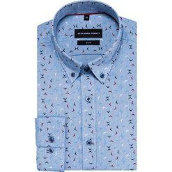 Koszula SIMONE slim KDWS000408. Czarne koszule męskie na spinki marki TOM TAILOR DENIM, l, z bawełny, button down, z długim rękawem. Za 169,00 zł.