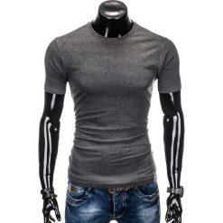 T-shirty męskie z nadrukiem: T-SHIRT MĘSKI BEZ NADRUKU S884 – GRAFITOWY