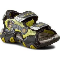 Sandały GEOX - B Sand Strike A B6231A 01450 C3S9A Lime Green/Anthracit. Szare sandały męskie skórzane marki Geox. W wyprzedaży za 169,00 zł.