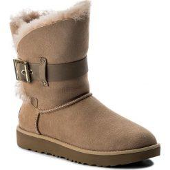 Buty UGG - W Jaylyn 1018628 W/Dri. Szare buty zimowe damskie marki Ugg, z materiału, z okrągłym noskiem. Za 989,00 zł.