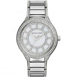 """Zegarek kwarcowy """"Kerry"""" w kolorze srebrno-perłowobiałym. Szare, analogowe zegarki damskie marki Michael Kors, ze stali. W wyprzedaży za 627,95 zł."""
