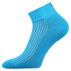 Skarpety Setra. Niebieskie skarpetki damskie marki Astratex, w kolorowe wzory, z bawełny. Za 14,99 zł.