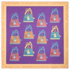 Chusty damskie: Versace 19.69 Chusta Damska It Bag Fioletowy