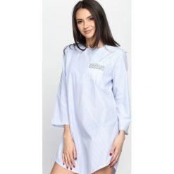 Niebieska Sukienka Forgotten. Niebieskie sukienki letnie Born2be, s, z koszulowym kołnierzykiem, koszulowe. Za 74,99 zł.