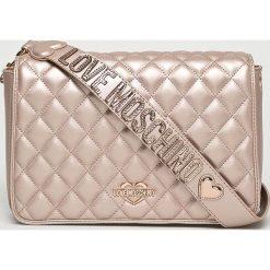 Love Moschino - Torebka. Szare torebki klasyczne damskie Love Moschino, w paski, z materiału, średnie. Za 899,90 zł.