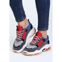Szaro-Czerwone Buty Sportowe Discord. Czerwone buty sportowe damskie marki KALENJI, z gumy. Za 99,99 zł.