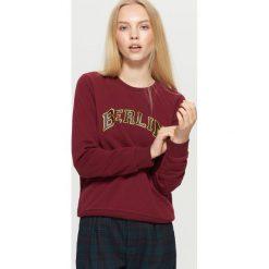 Bluza z napisem - Bordowy. Czerwone bluzy męskie rozpinane marki KALENJI, m, z elastanu, z długim rękawem, długie. Za 39,99 zł.