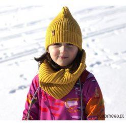 Odzież dziecięca: Czapka zimowa beanie musztarda