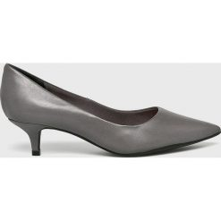 Answear - Czółenka Heritage. Szare buty ślubne damskie marki ANSWEAR, z materiału, na obcasie. W wyprzedaży za 164,90 zł.