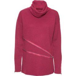 Golfy damskie: Sweter z golfem bonprix czerwony klonowy