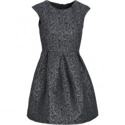Czarna Sukienka Loquacious. Czarne sukienki Born2be, l, z okrągłym kołnierzem, bez rękawów, mini, oversize. Za 49,99 zł.