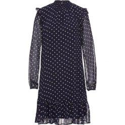 Sukienki: Sukienka z falbanami bonprix ciemnoniebieski w kropki