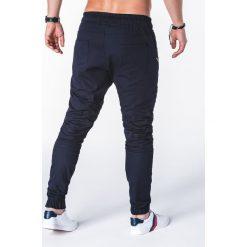 SPODNIE MĘSKIE JOGGERY P709 - GRANATOWE. Niebieskie joggery męskie Ombre Clothing. Za 79,00 zł.