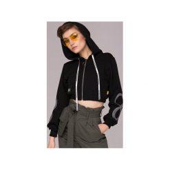 Infinity Cropped Hoodie Bluza. Czarne bluzy rozpinane damskie Animals Wave, xs, z haftami, z bawełny, z krótkim rękawem, krótkie, z kapturem. Za 199,00 zł.
