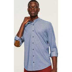 Koszula slim fit z łatami na łokciach - Niebieski. Niebieskie koszule męskie na spinki marki QUECHUA, m, z elastanu. Za 119,99 zł.