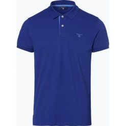 Gant - Męska koszulka polo – Rugger, niebieski. Niebieskie koszulki polo GANT, m, z bawełny. Za 349,95 zł.