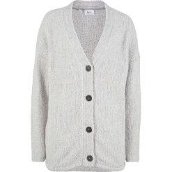 Sweter rozpinany z puszystej przędzy bonprix jasnoszary melanż. Szare kardigany damskie marki Mohito, l. Za 74,99 zł.