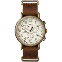 Zegarek Timex Męski TW2P85300 Weekender Chrono brązowy. Brązowe zegarki męskie Timex. Za 379,99 zł.