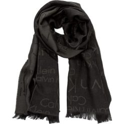 Szal CALVIN KLEIN BLACK LABEL - Logo 2 Scarf K50K501349  302. Czarne szaliki damskie marki Calvin Klein Black Label, z materiału. W wyprzedaży za 189,00 zł.