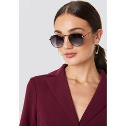 NA-KD Accessories Okulary przeciwsłoneczne Rounded Square - Black. Czarne okulary przeciwsłoneczne damskie aviatory NA-KD Accessories. Za 52,95 zł.