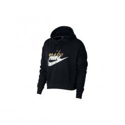 Bluzy Nike  AJ0096  Sportswear Rally. Czarne bluzy rozpinane damskie Nike, l. Za 297,15 zł.