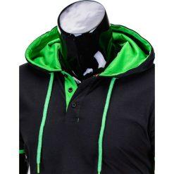 T-shirty męskie: T-SHIRT MĘSKI Z KAPTUREM BEZ NADRUKU S680 – CZARNY