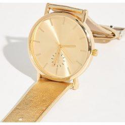 Złoty zegarek - Beżowy. Brązowe zegarki damskie Sinsay, złote. Za 29,99 zł.