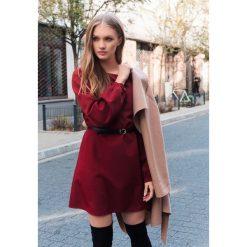 Bordowa Sukienka Emotion. Czerwone sukienki hiszpanki other, l, wizytowe. Za 89,99 zł.