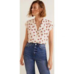 Mango - Koszula Pipe. Szare koszule damskie Mango, l, z tkaniny, z krótkim rękawem. Za 89,90 zł.