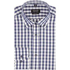 Koszula versone 2703 długi rękaw slim fit granatowy. Niebieskie koszule męskie na spinki Recman, m, z długim rękawem. Za 149,00 zł.