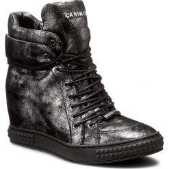 Sneakersy CARINII - B3733 I23-000-PSK-B88. Czarne botki damskie skórzane Carinii. W wyprzedaży za 249,00 zł.