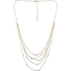 Naszyjniki damskie: Pozłacany naszyjnik z elementem ozdobnym – dł. 38 cm