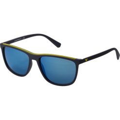 Emporio Armani Okulary przeciwsłoneczne blue. Niebieskie okulary przeciwsłoneczne męskie aviatory Emporio Armani. Za 689,00 zł.