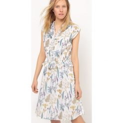 Sukienki: Długa sukienka bez rękawów z falbanami