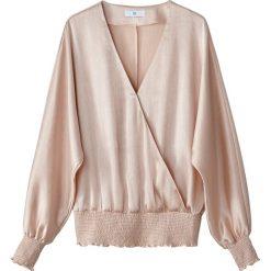 Bluzki asymetryczne: Bluzka z dekoltem kopertowym, u dołu i przy mankietach na gumeczki